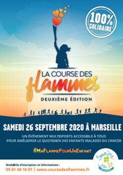Affiche course des flammes 26 septembre 2020 à marseille