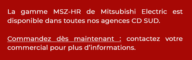 Bandeau information stock PAC MSZ-HR Mitsubishi Electric