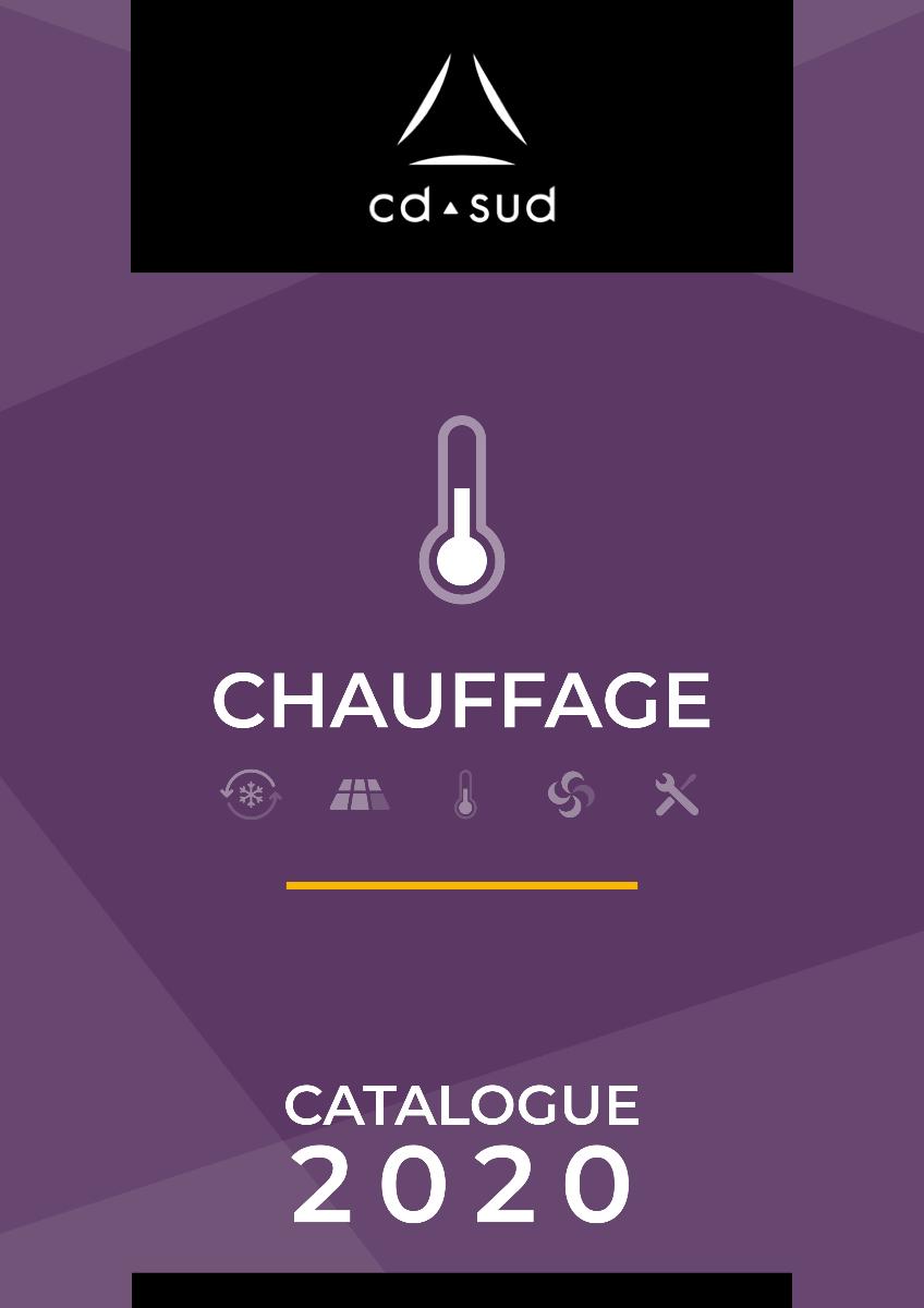 Page de couverture catalogue chauffage CD SUD 2020
