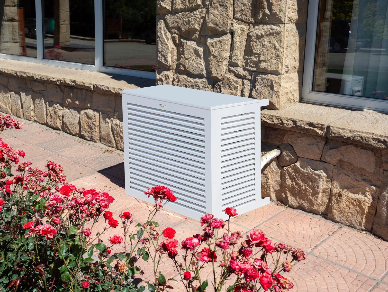 Visuel cache-groupe climatiseur & PAC