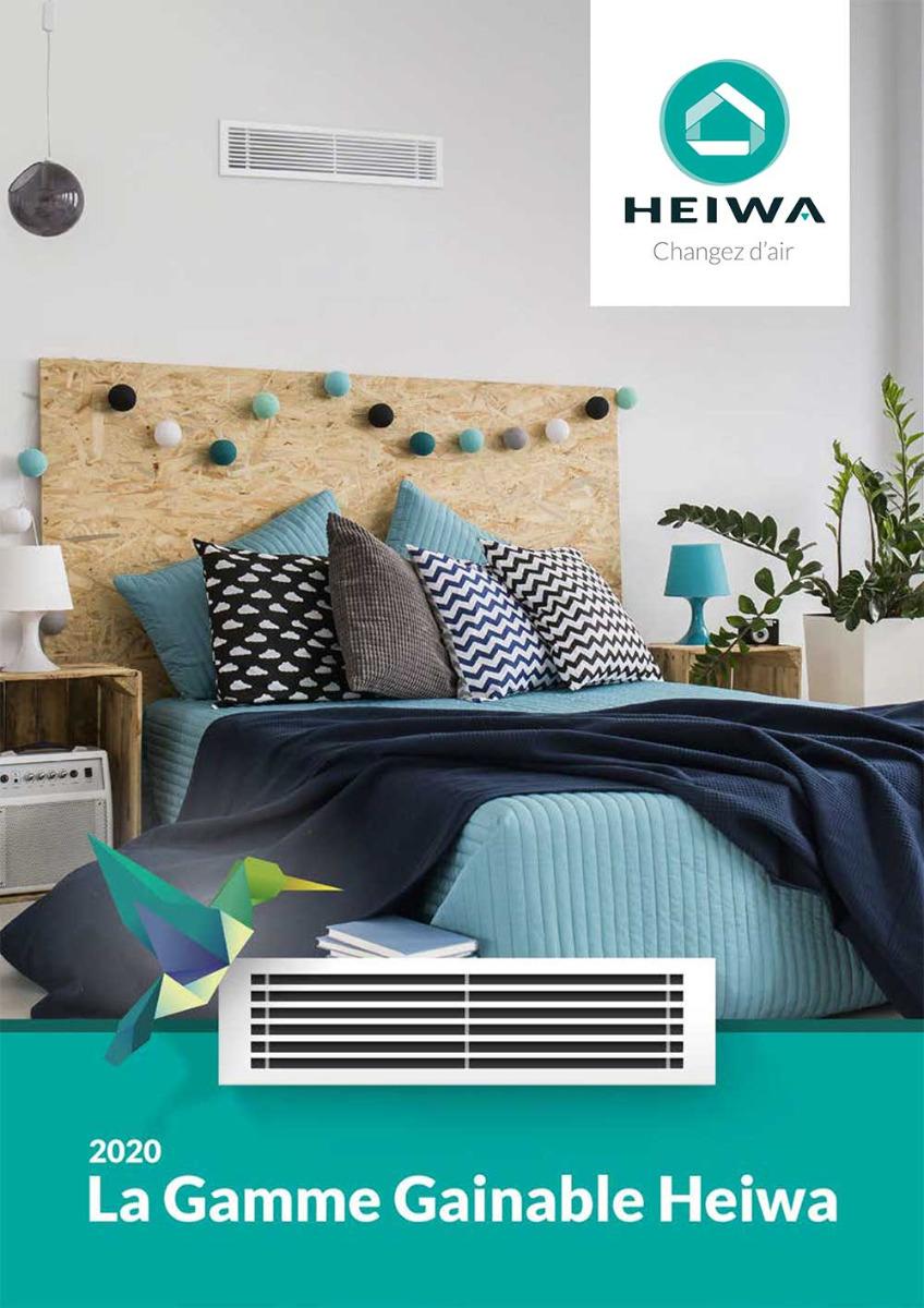 Page de ocuverture brochure gainable Heiwa
