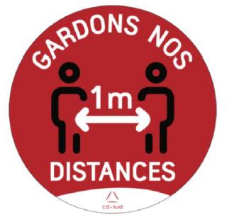 Visuel distance de sécurité