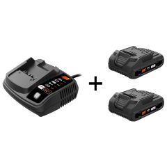 Pack batteries 2x5Ah 18V + chargeur