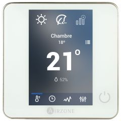 Kit 2 zones - 2 thermostats blueface filaires blanc + câble