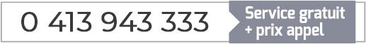 Numéro de téléphone service RGE CD SUD